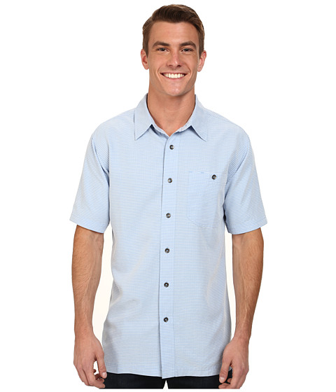 Royal Robbins - Mojave Desert Pucker S/S (Sky) Men's Short Sleeve Button Up