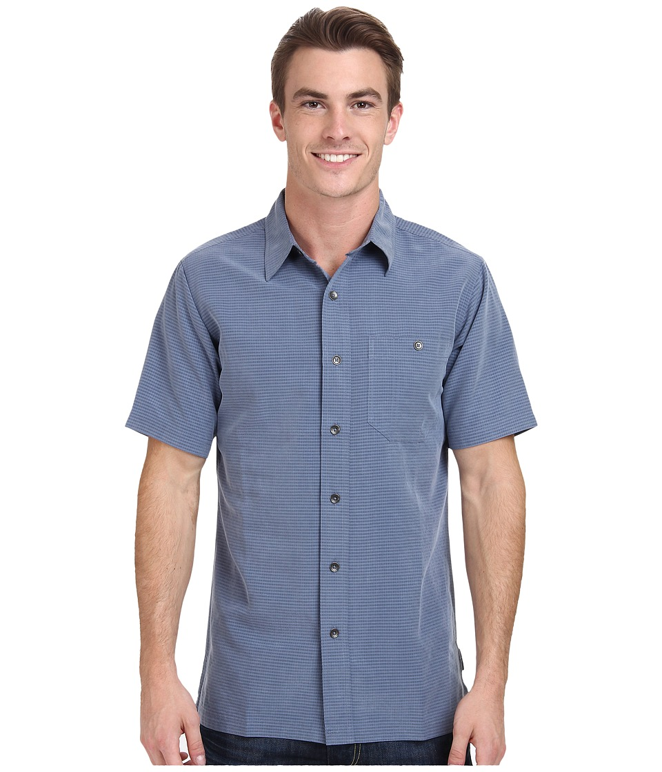 Royal Robbins - Mojave Desert Pucker S/S (Ink) Men's Short Sleeve Button Up