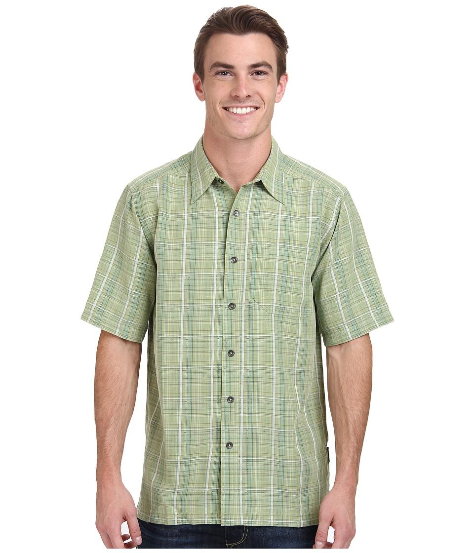 Royal Robbins - Pilat Plaid S/S (Artichoke) Men's Short Sleeve Button Up