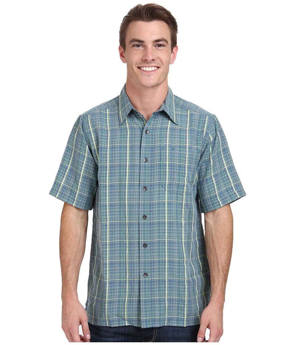 Royal Robbins - Pilat Plaid S/S (Ink) Men's Short Sleeve Button Up