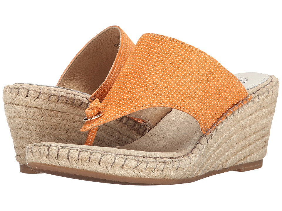 Johnston & Murphy - Ainsley Thong (Orange & White Dot) Women's Sandals
