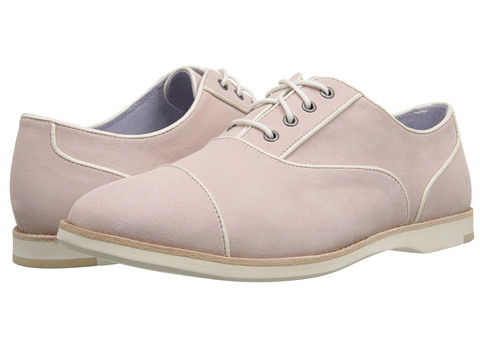 Johnston & Murphy - Deena Piped Oxford (Blush Shimmer Suede) Women's Shoes