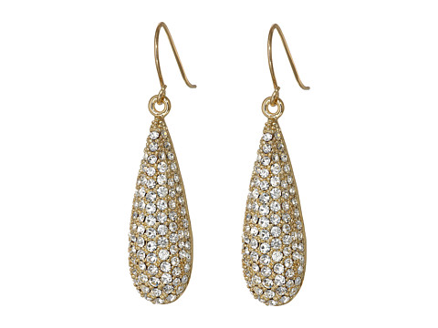 LAUREN by Ralph Lauren - Napa Valley Linear Pave Teardrop Earrings (Crystal/Gold) Earring