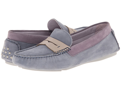 Johnston & Murphy - Maggie Penny (Slate Multi Nubuck) Women's Slip on Shoes