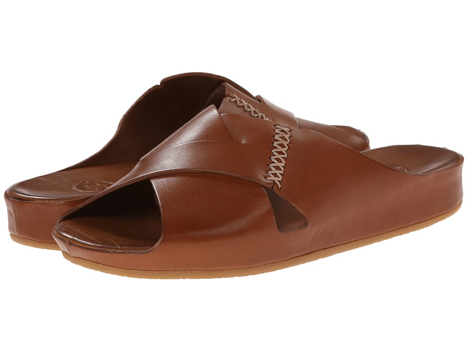 Johnston & Murphy - Sonya Slide (Saddle) Women