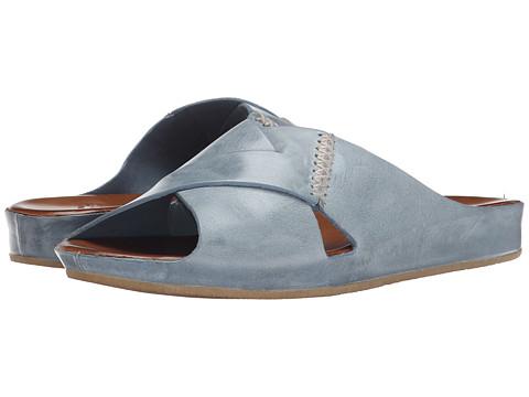 Johnston & Murphy - Sonya Slide (Blue Waxy Calfskin) Women's Slide Shoes