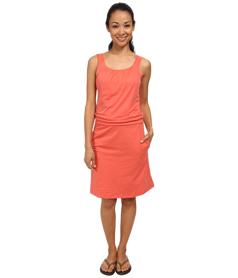 Toad&Co - Shirred Thing Dress (Dark Coral) Women's Dress