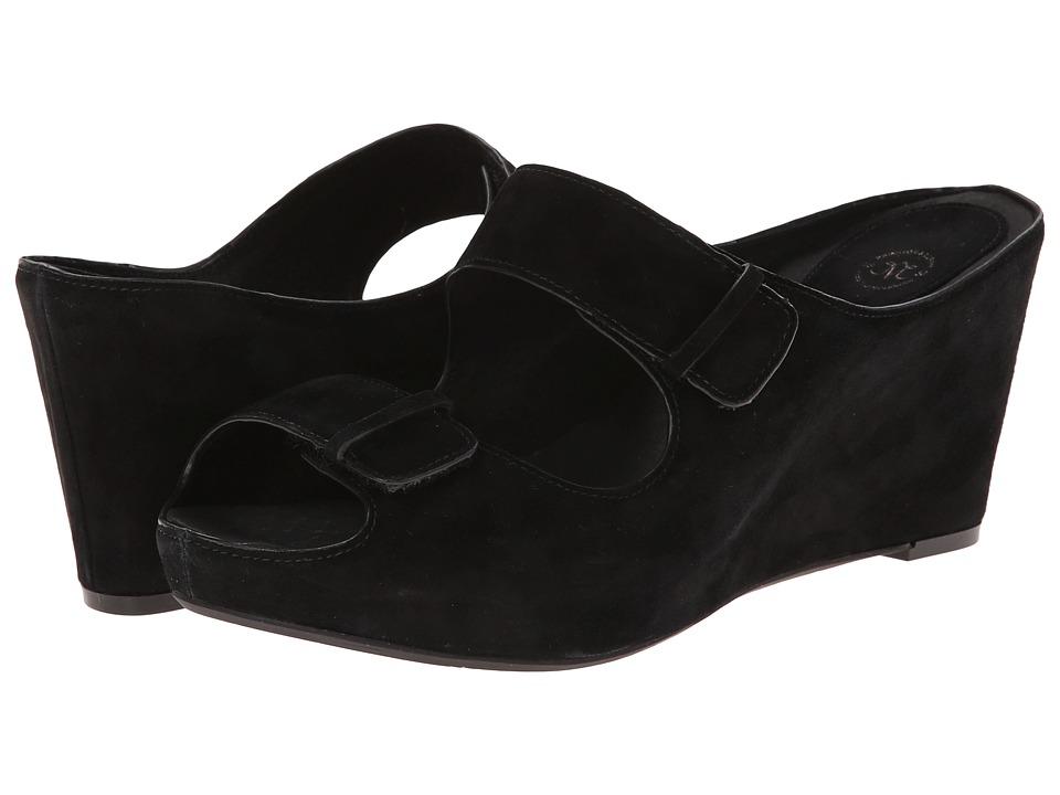 Johnston & Murphy - Tricia Double Strap Slide (Black Kidsuede) Women's Slide Shoes