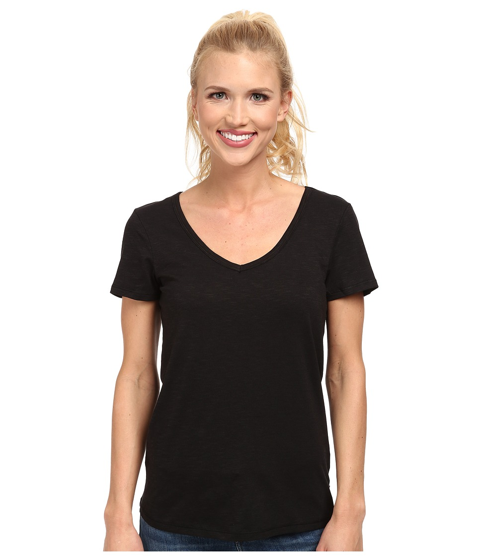 Toad&Co - Marley S/S Tee (Black) Women's Short Sleeve Pullover