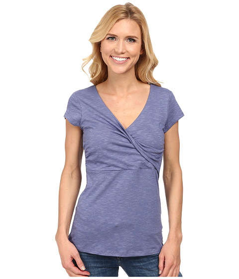 Toad&Co - Empirical S/S Tee (Dusty Indigo) Women's Short Sleeve Pullover