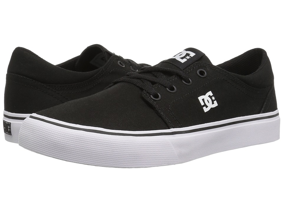 DC Kids - Trase TX (Little Kid) (Black/White) Kids Shoes