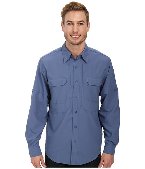 Royal Robbins - Expedition Stretch L/S (Ink) Men's Long Sleeve Button Up