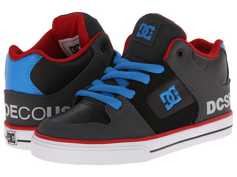 DC Kids - Radar (Little Kid) (Grey/Black/Blue) Boys Shoes