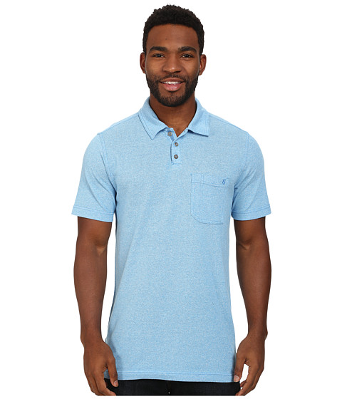 Royal Robbins - Royal Polo (Ocean Blue) Men's Short Sleeve Knit
