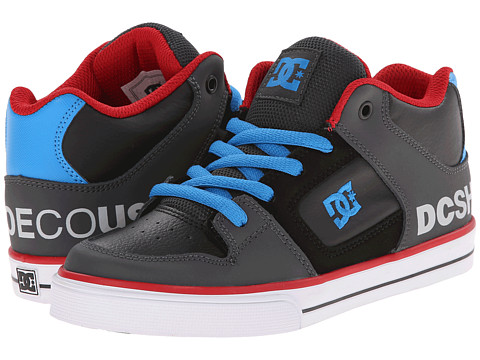 DC Kids - Radar (Big Kid) (Grey/Black/Blue 1) Boys Shoes