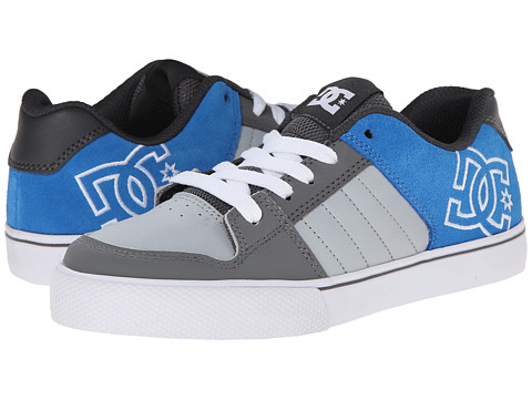 DC Kids - Chase (Big Kid) (Grey/Grey/Blue) Boys Shoes