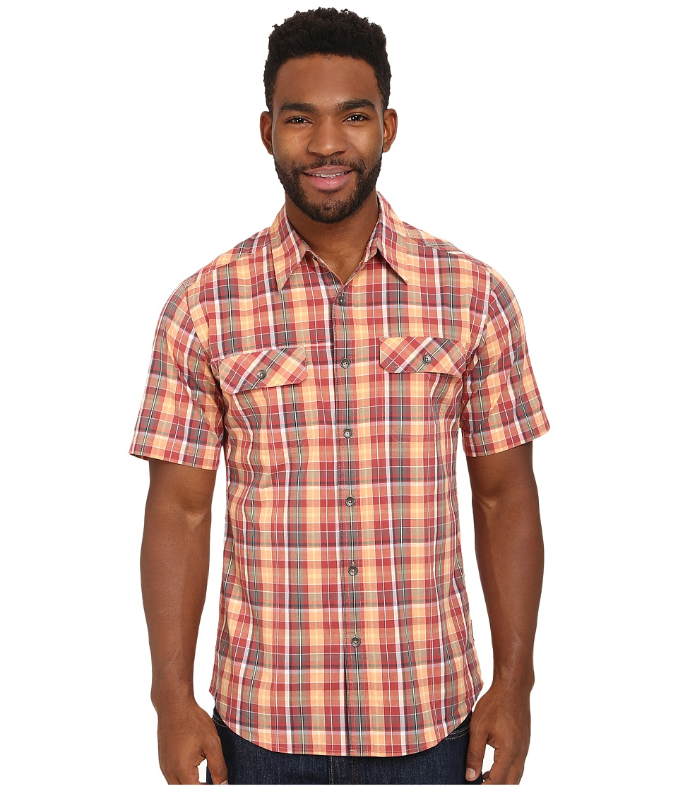 Royal Robbins - Summertime Plaid S/S (Brick) Men's Short Sleeve Button Up