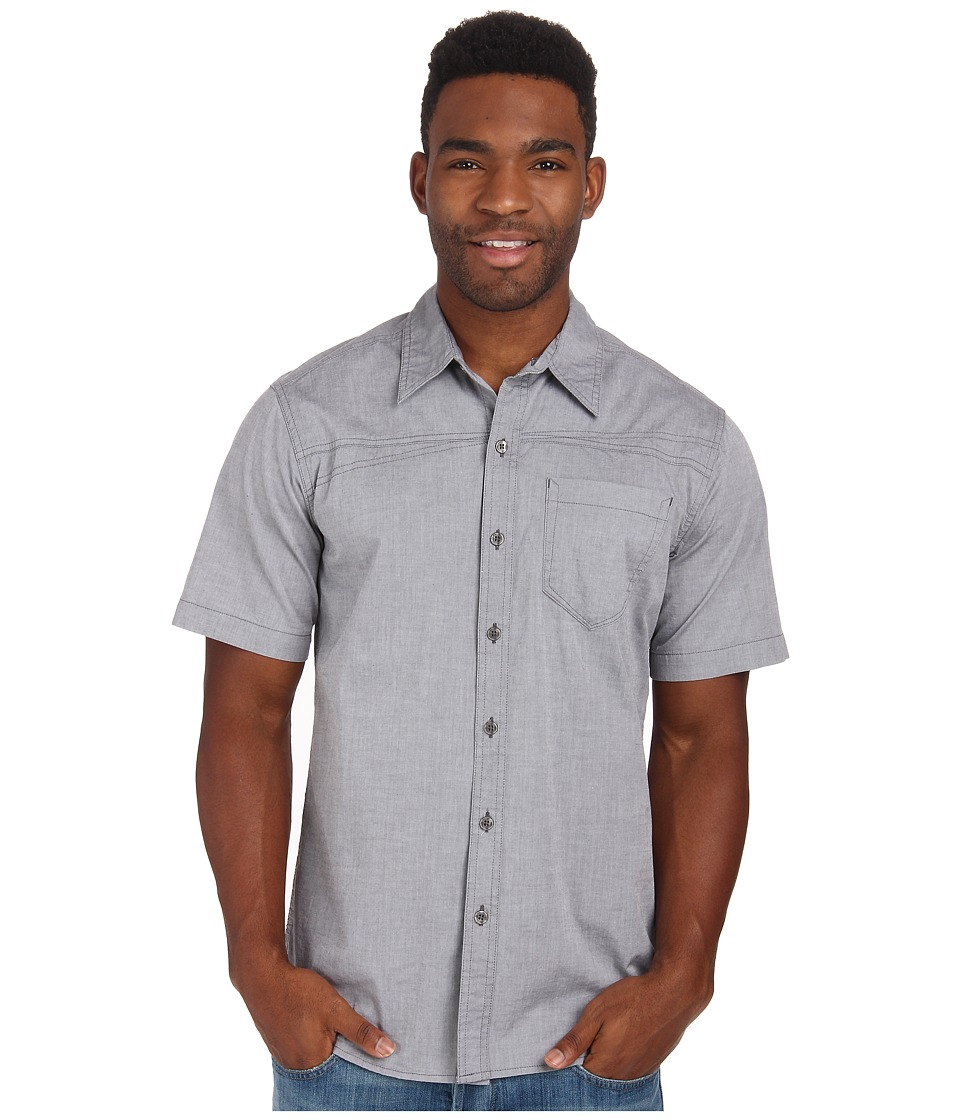 Royal Robbins - Drifter Chambray S/S (Obsidian) Men's Short Sleeve Button Up