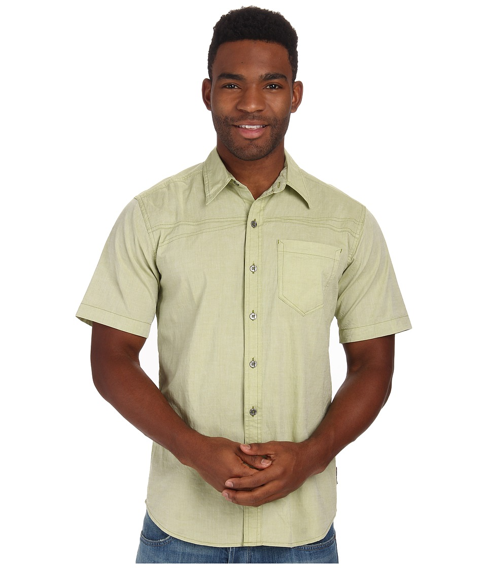 Royal Robbins - Drifter Chambray S/S (Celery) Men's Short Sleeve Button Up