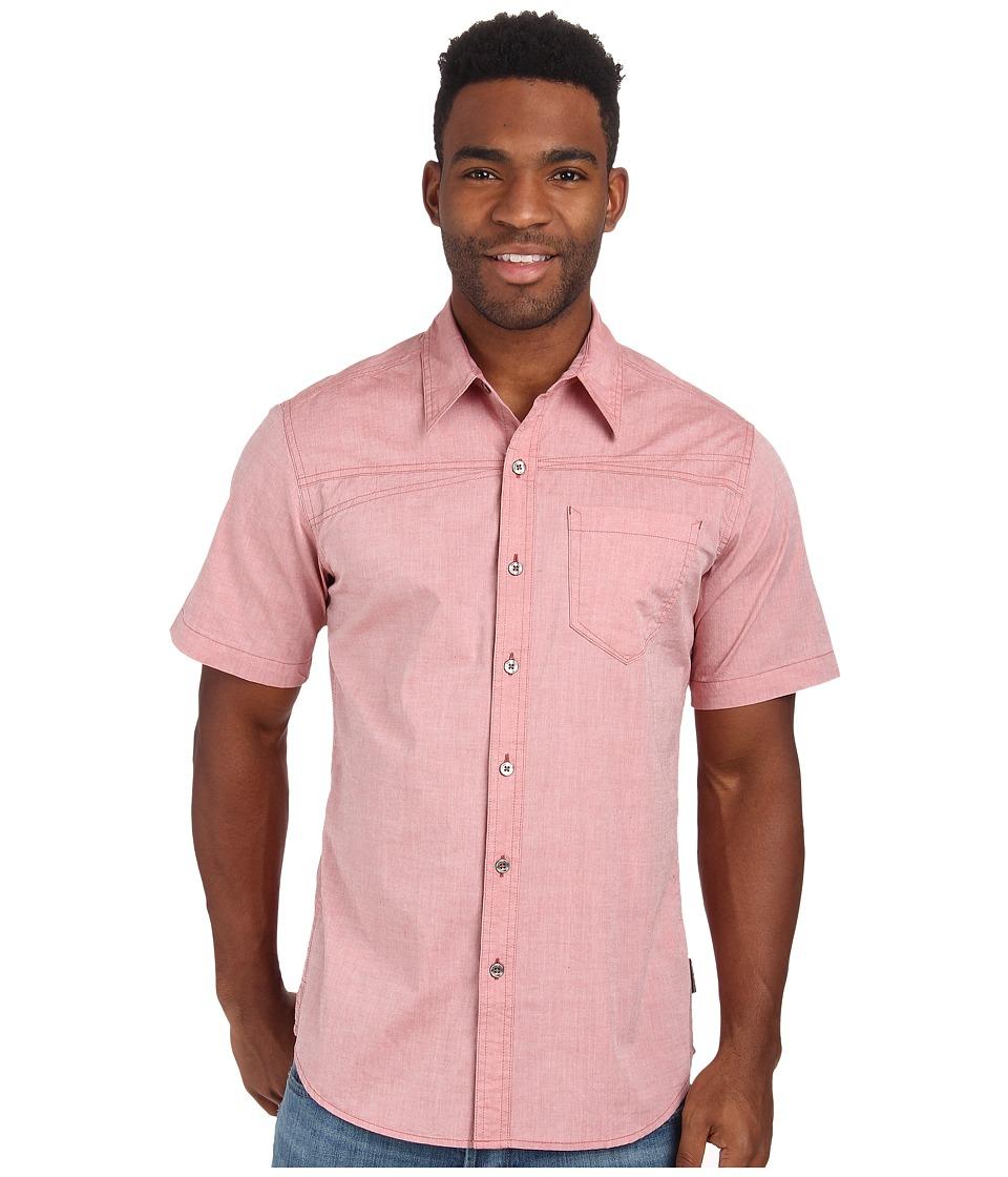 Royal Robbins - Drifter Chambray S/S (Brick) Men's Short Sleeve Button Up