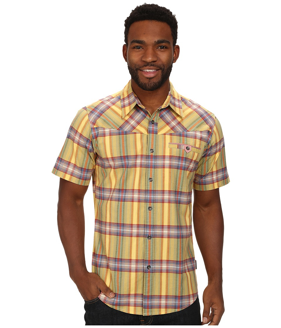 Royal Robbins Drifter Dobby S-S Plantain Mens Short Sleeve Button Up