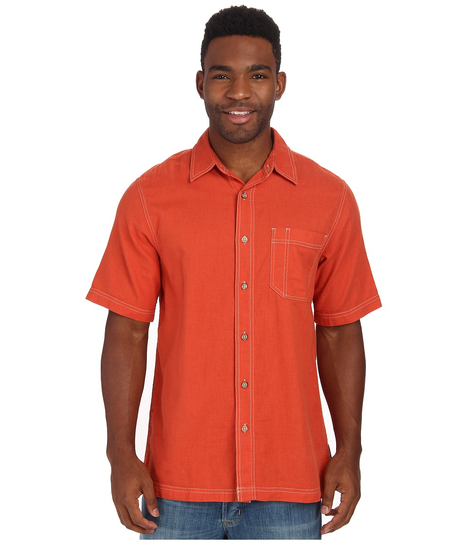Royal Robbins - Cool Mesh S/S (Carrot) Men's Short Sleeve Button Up