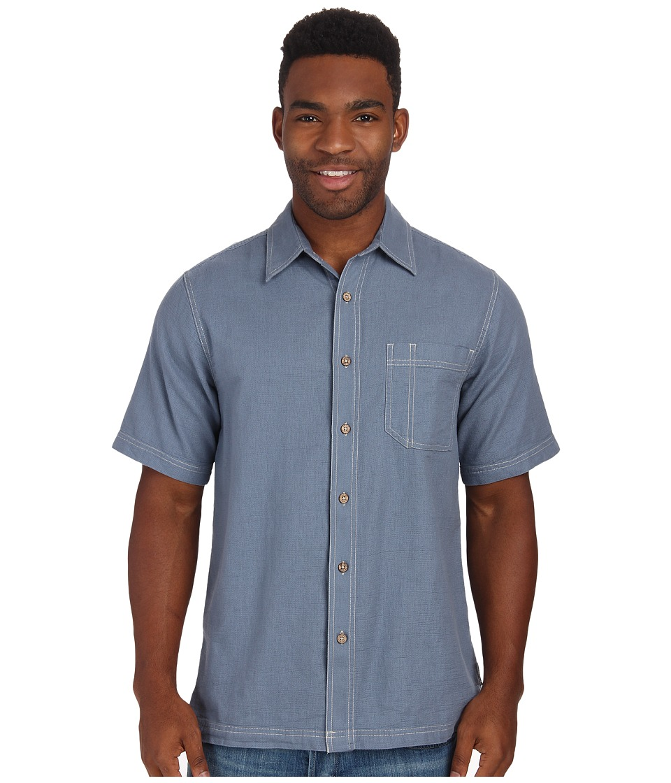 Royal Robbins - Cool Mesh S/S (Steel Blue) Men's Short Sleeve Button Up