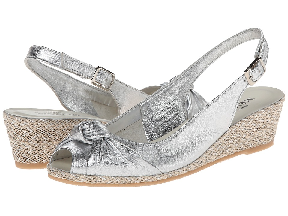 Sesto Meucci - 1705 (Silver Metallica Nappa) Women's Wedge Shoes
