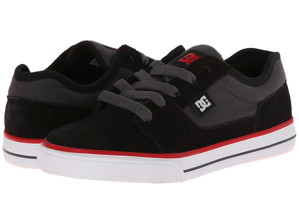 DC Kids - Tonik (Little Kid) (Black/Grey/Red) Boys Shoes