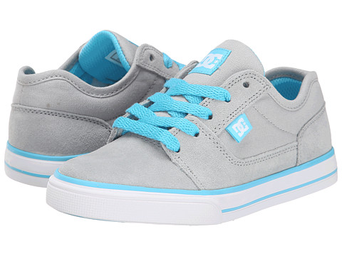 DC Kids - Tonik (Big Kid) (Light Grey/Turquoise) Girls Shoes