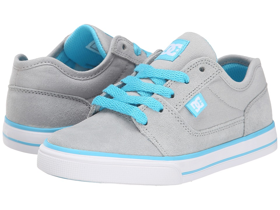 DC Kids - Tonik (Little Kid) (Light Grey/Turquoise) Girls Shoes