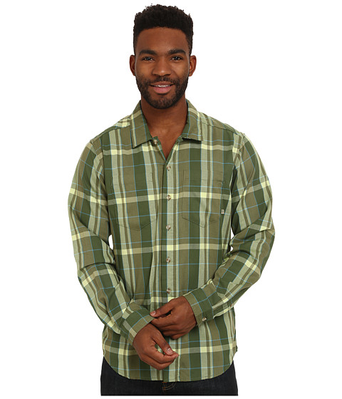 ExOfficio - BugsAway Talisman Plaid Long Sleeve Top (Olive) Men's Long Sleeve Button Up