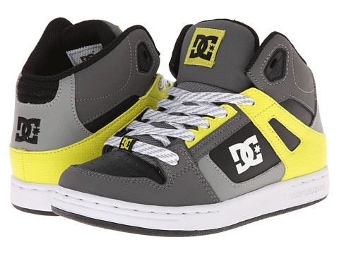 DC Kids - Rebound SE (Little Kid) (Battleship/Lime) Boys Shoes