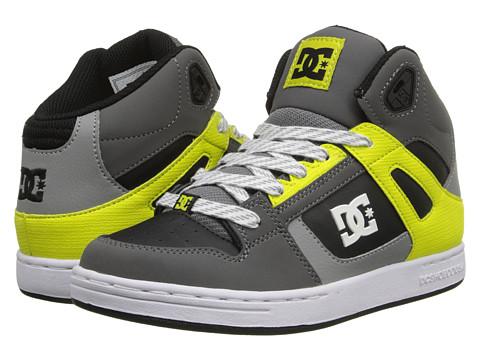 DC Kids - Rebound SE (Big Kid) (Battleship/Lime) Boys Shoes