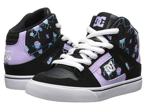 DC Kids - Spartan High SE (Little Kid) (Black Print) Girls Shoes