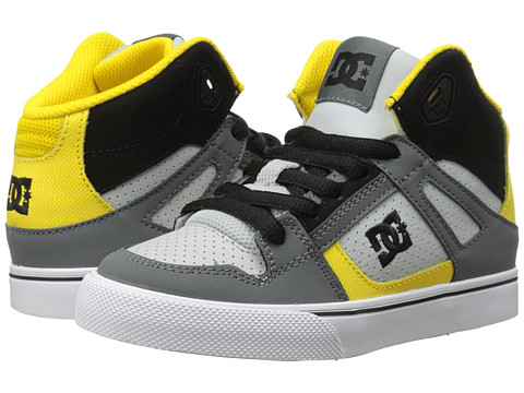 DC Kids - Spartan High (Little Kid) (Grey/Black/Yellow) Boys Shoes