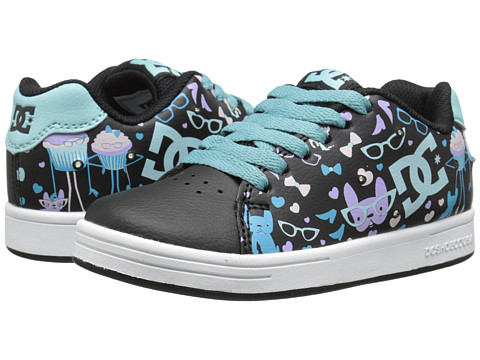 DC Kids - Phos (Big Kid) (Black Print) Girls Shoes