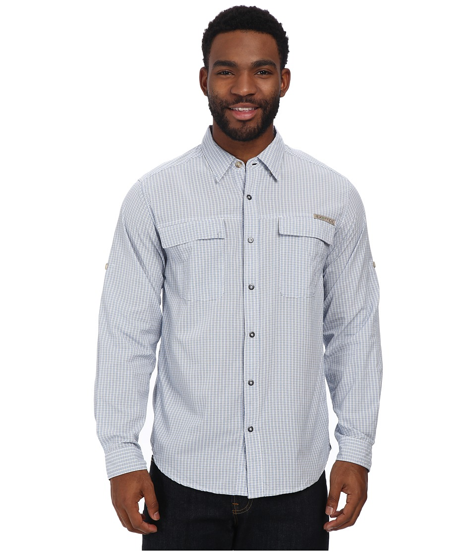 ExOfficio - BugsAway Halo Check Long Sleeve Top (Isle) Men's Long Sleeve Button Up