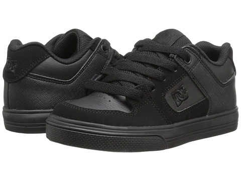 DC Kids - Pure (Little Kid) (Black/Black) Boys Shoes