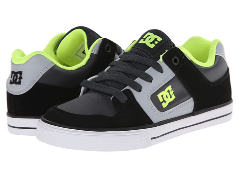 DC Kids - Pure (Big Kid) (Black/Grey/Yellow) Boys Shoes