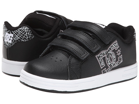 DC Kids - Character V (Little Kid) (Black/White/Carbon) Boys Shoes