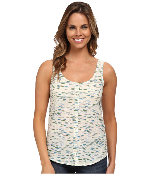 Toad&Co - Voila Button Tank Top (Salt Ripple Print) Women