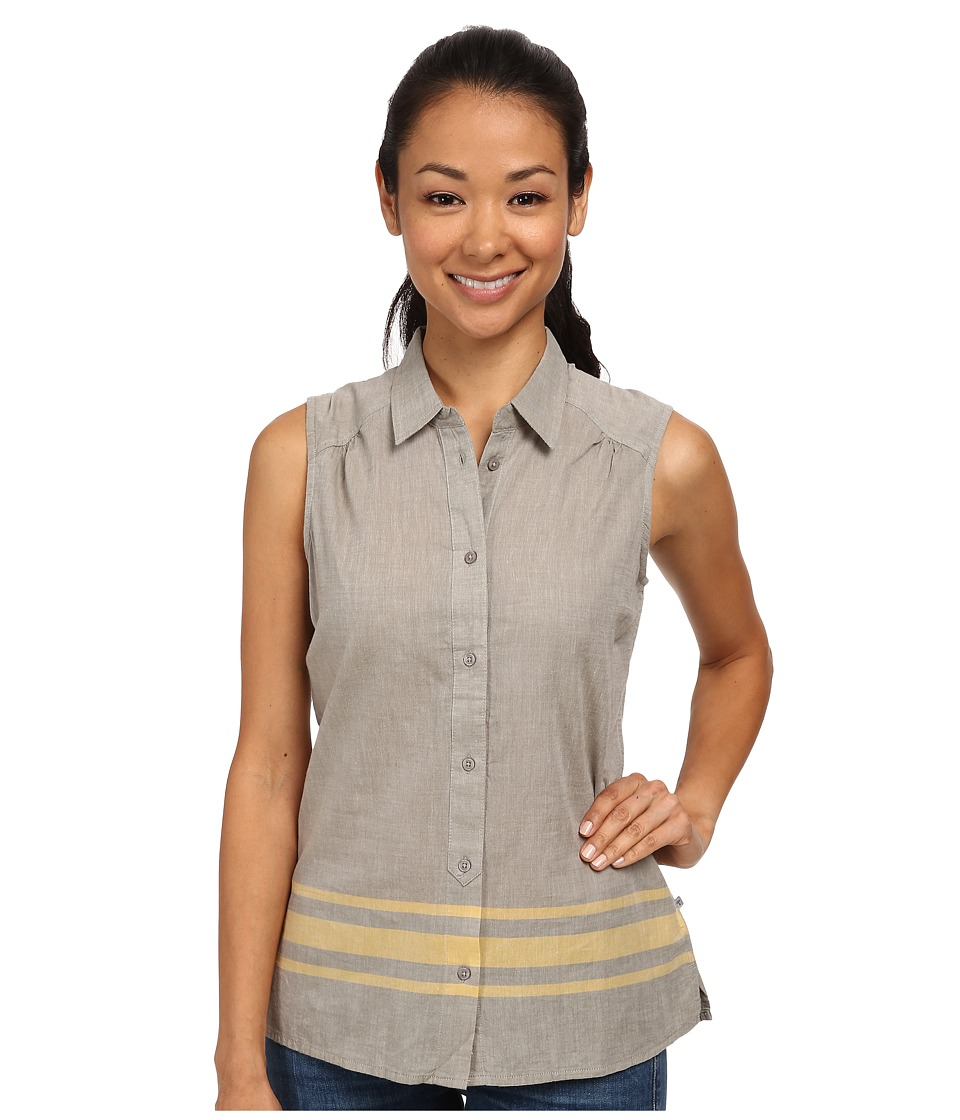 Toad&Co - Rizzo Sleeveless Stripe Shirt (Dusty Olive) Women