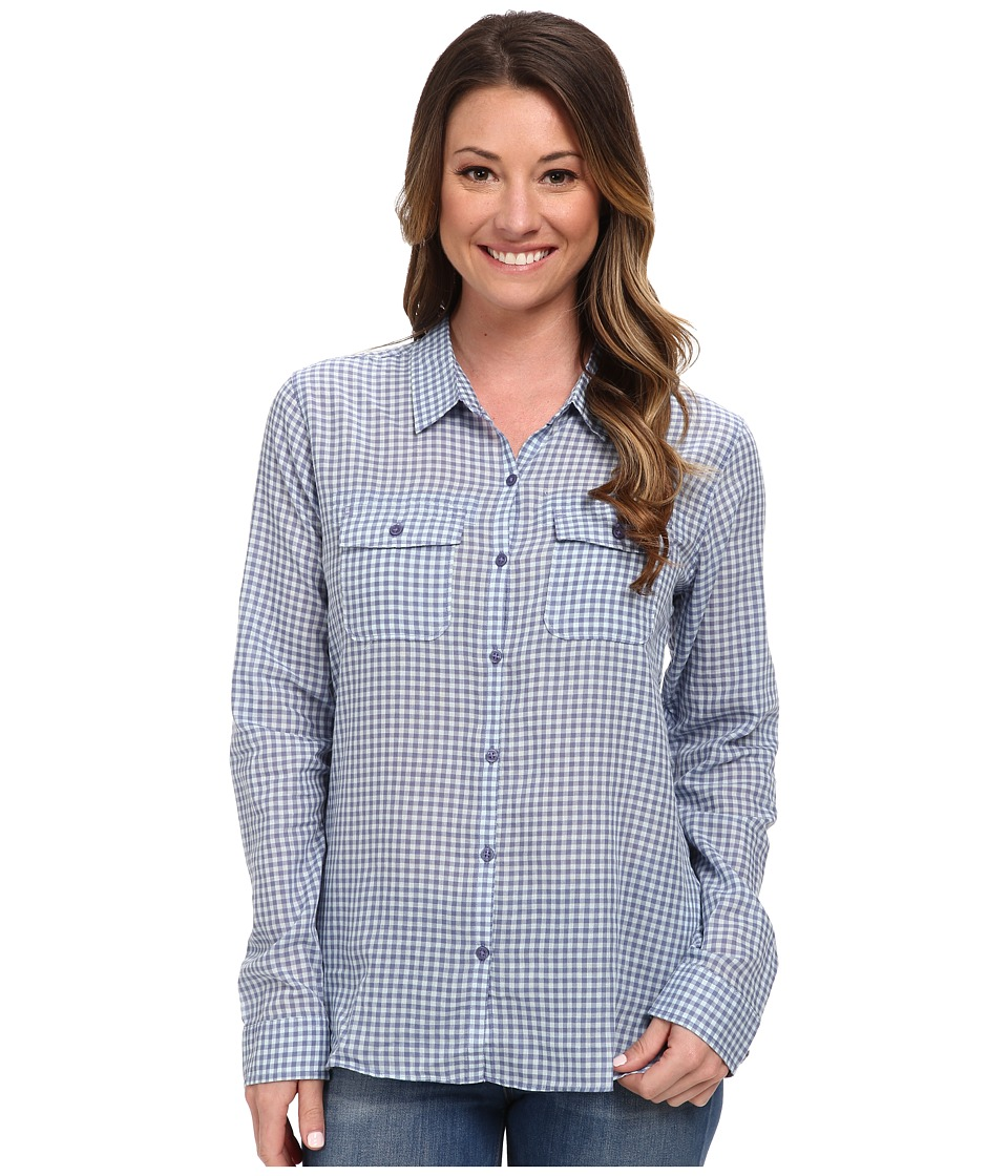 Toad&Co - Airbrush L/S Shirt (Dusty Indigo) Women's Long Sleeve Button Up