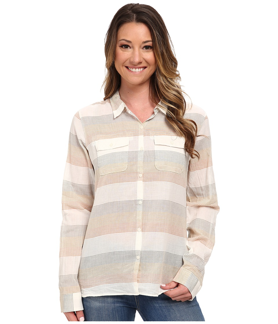 Toad&Co - Airbrush L/S Shirt (Copper Stripe) Women's Long Sleeve Button Up