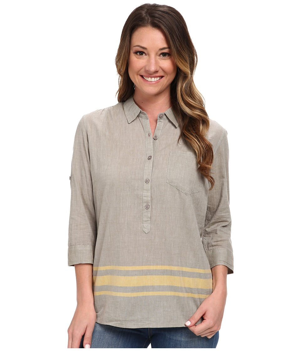 Toad&Co - Romey Three-Quarter Sleeve Shirt (Dusty Olive) Women's Short Sleeve Button Up