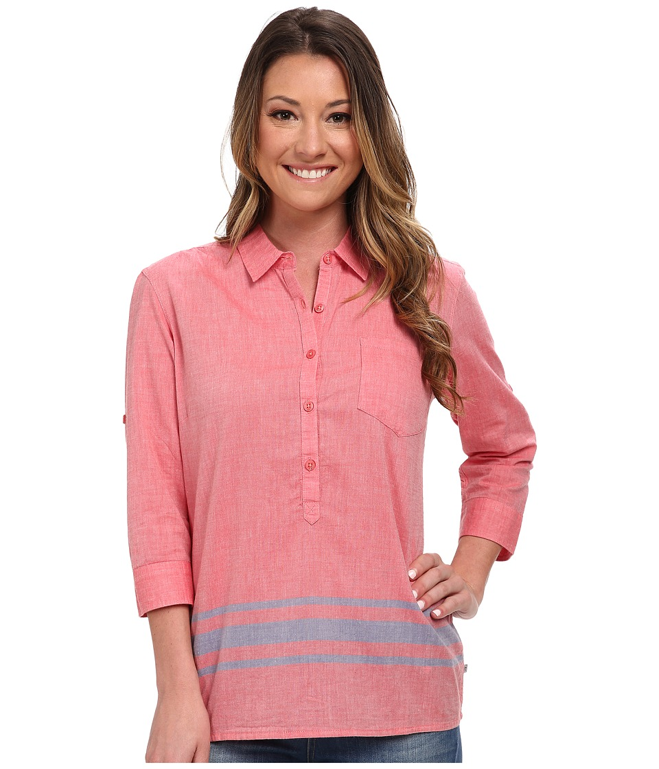Toad&Co - Romey Three-Quarter Sleeve Shirt (Hibiscus) Women's Short Sleeve Button Up