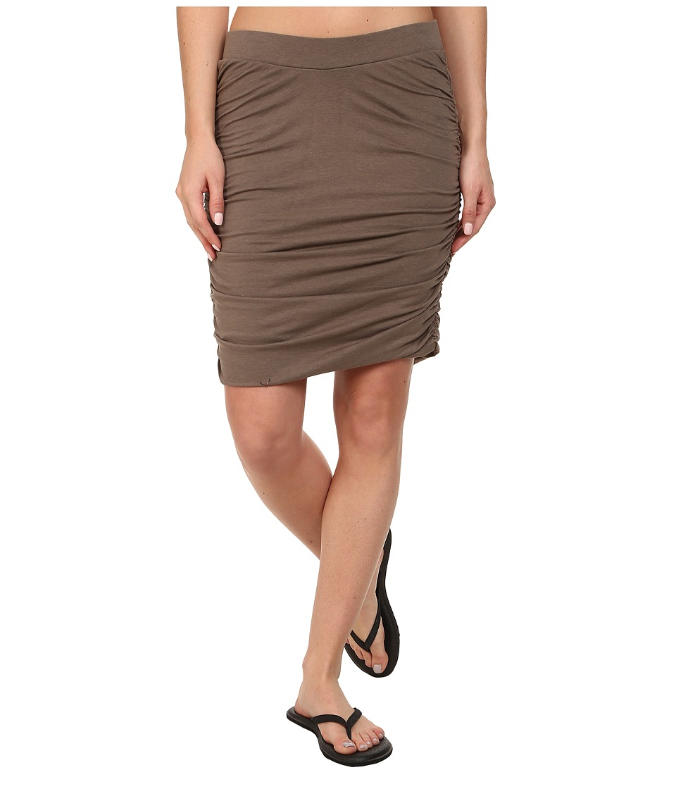 Toad&Co Shirred Thing Skirt (Falcon Brown) Women