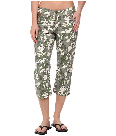 Toad&Co - Petrograph Crop (Dusty Olive Print) Women