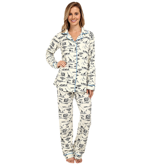 BedHead - Safari Toile Stretch Classic PJ (Black Safari Toile) Women